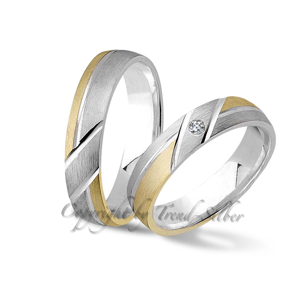 2 silber verlobungsringe trauringe gold platiert j122 1 ebay. Black Bedroom Furniture Sets. Home Design Ideas