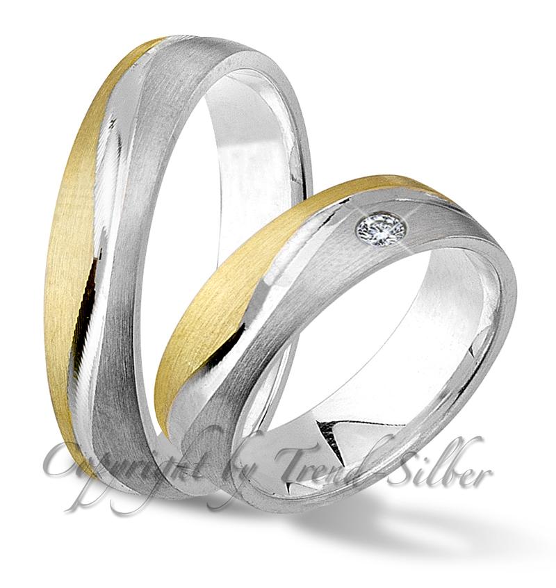 2 Ringe Verlobungsringe Gold Platiert Silber 925 J124 1 Ebay